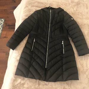 Bernardo Packable Hooded Walker Coat- Black XL